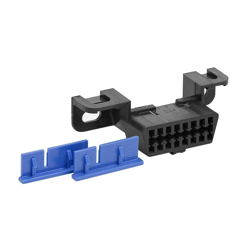 Connector Shell, J1962F w/ 2 TPA Locks, Black, P/N : 220201